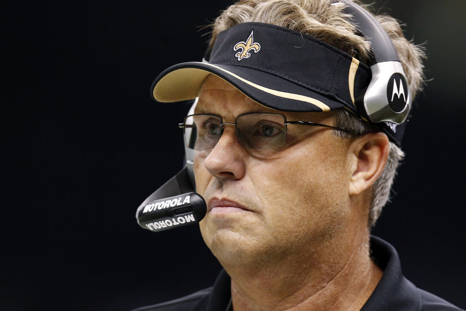 FILE - In this Sept. 26, 2010, file photo, New Orleans Saints defensive coordinator Gregg Williams appears during an NFL football game against the Atlanta Falcons at Mercedes-Benz Superdome in New Orleans. Former New Orleans coordinator Williams said at an appeals hearing in the Saints bounty case that he tried to shut down the team\'s pay-for-pain system when the NFL began investigating but was overruled by current Saints head coach Joe Vitt, according to transcripts of the session that were obtained by The Associated Press on Wednesday, Dec. 12, 2012. (AP Photo/Gerald Herbert, File)
