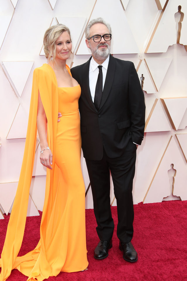 Photo - Feb 9, 2020; Los Angeles, CA, USA; Alison Balsom, left and Sam Mendes arrive at the 92nd Academy Awards at Dolby Theatre. Mandatory Credit: Dan MacMedan-USA TODAY
