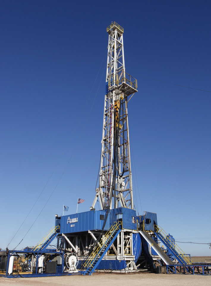 Photo -  SandRidge drilling a well in the Mississippian Lime near Medford in 2012. [THE OKLAHOMAN ARCHIVES]