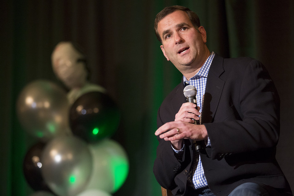 Photo - Chicago White Sox general manager Rick Hahn speaks during the baseball team's SoxFest annual fan convention, Friday, Jan. 24, 2014, in Chicago. (AP Photo/Andrew A. Nelles)