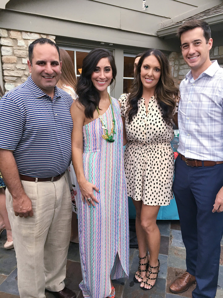 Photo - Trey Homsey, Jennifer Farha, Lisa and Matt Alley. PHOTO PROVIDED