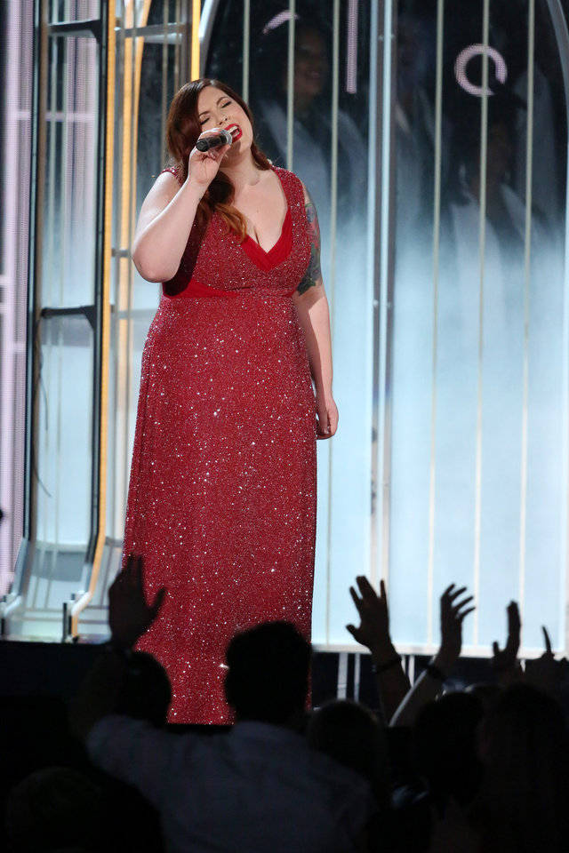 """Photo - Mary Lambert performs """"Same Love"""" at the 56th annual Grammy Awards at Staples Center on Sunday, Jan. 26, 2014, in Los Angeles. (Photo by Matt Sayles/Invision/AP)"""