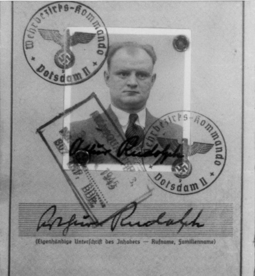 Photo - ADVANCE FOR 9:00 P.M. EDT, SUNDAY OCT. 19 AND THEREAFTER - This undated handout provided by the Justice Department shows Arthur Rudolph, one of hundreds of scientists brought to the US after World War II despite their Nazi past. An Associated Press investigation found dozens of suspected Nazi war criminals and SS guards collected millions of dollars in Social Security payments after being forced out of the United States. (AP Photo/Justice Department)