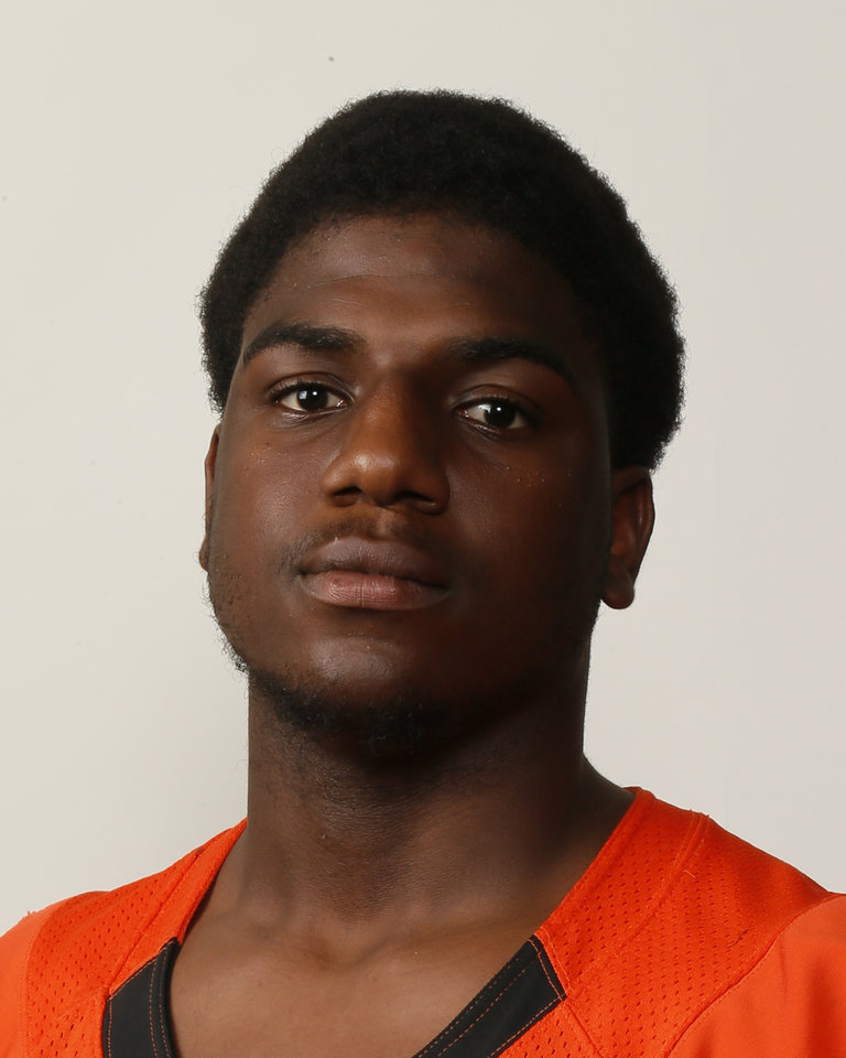 Deondre Clark, Douglass football player, poses for a mug shot during The Oklahoman\'s Fall High School Sports Photo Day in Oklahoma City, Wednesday, Aug. 15, 2012. Photo by Nate Billings, The Oklahoman