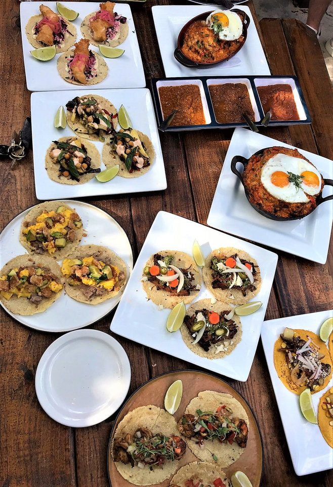 Photo -  A sampling of taco created by chefs Chris McKenna and Ryan Parrott at Picasso's in the spring were candidates for the new concept Oso, which opens in early October. [Photo by Dave Cathey, The Oklahoman]