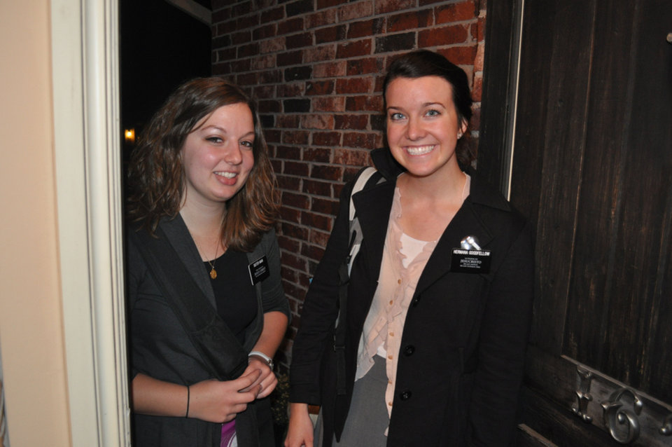 Sister Stephanie Main and Sister Alli Goodfellow, two Mormon missionaries in the Oklahoma City area, pose for a photo. Photo provided <strong></strong>