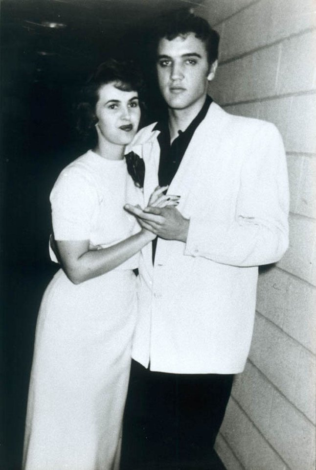 Photo -  Wanda Jackson is pictured with Elvis Presley, her boyfriend at the time. [Photo provided]