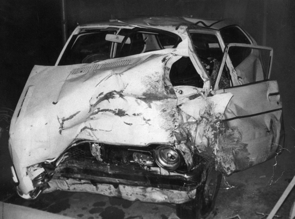 Photo - Karen Silkwood employee at Kerr McGee Cimarron Nuclear Plant near Cresent, OKla. killed in auto accident.  Auto belonging to Silkwood