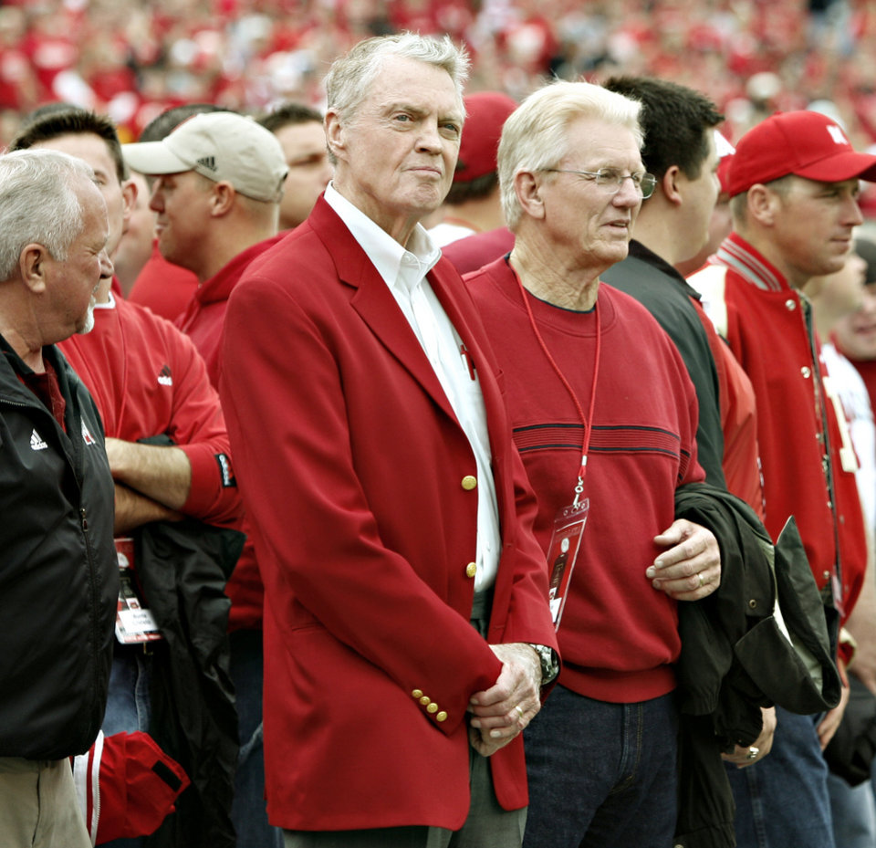 Photo - Former Nebraska head coach Tom Osborne waits for the start of the college football game between Oklahoma State University (OSU) and the University of Nebraska at Memorial Stadium in Lincoln, Neb., on Saturday, Oct. 13, 2007. By Bryan Terry, The Oklahoman