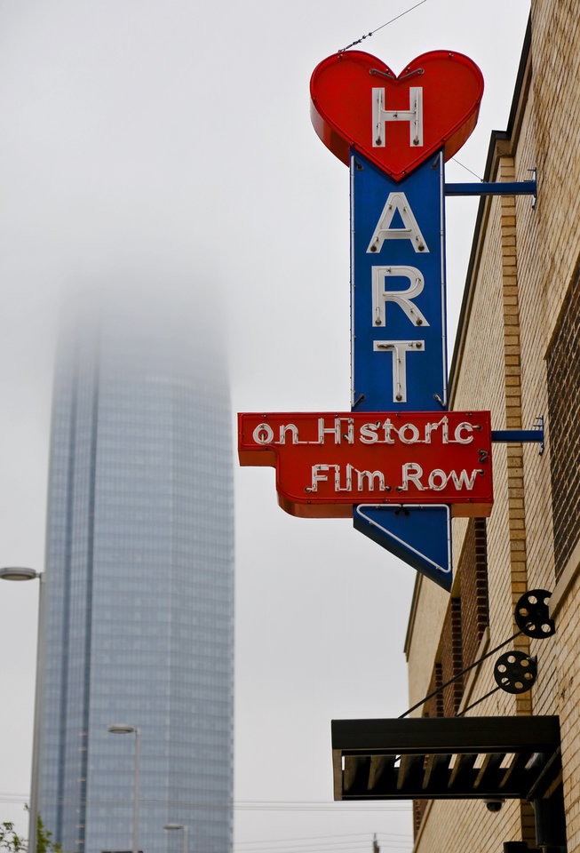 Photo -  Part of the renovated Hart Building located in Historic Film Row in downtown Oklahoma City seen on Sept. 20. File Photo by Chris Landsberger, The Oklahoman   CHRIS LANDSBERGER -  CHRIS LANDSBERGER