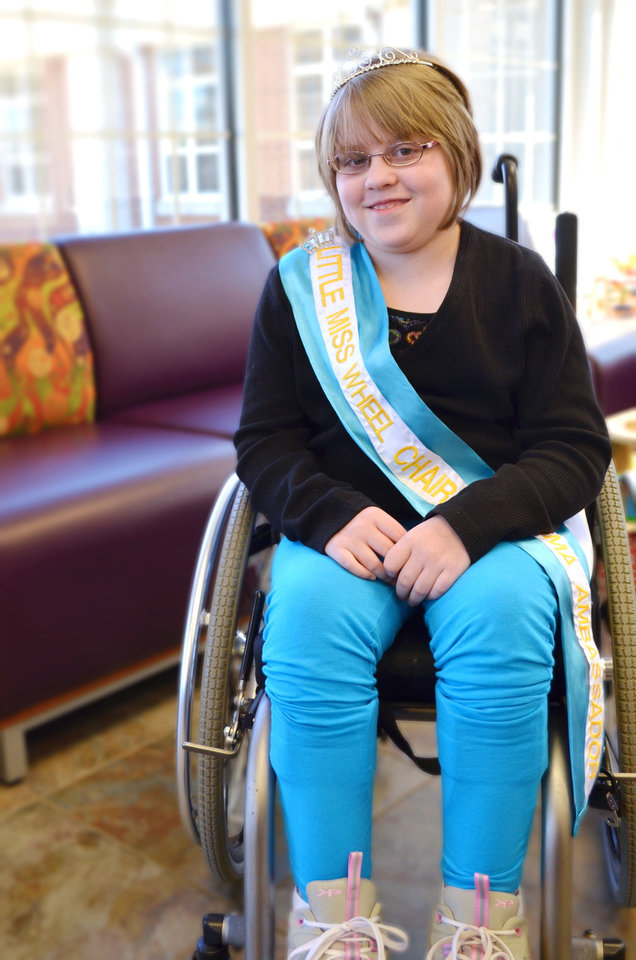 Lauren Smith is Little Miss Wheelchair of Oklahoma. PHOTO BY TRAVIS DOUSSETTE, THE CHILDREN'S CENTER