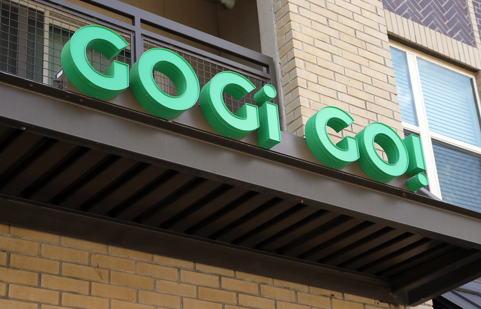 Photo -  The sign outside Gogi Go, a Korean fast-casual concept at 1325 N Walker Ave., in Oklahoma City. [Photo by Nate Billings, The Oklahoman]