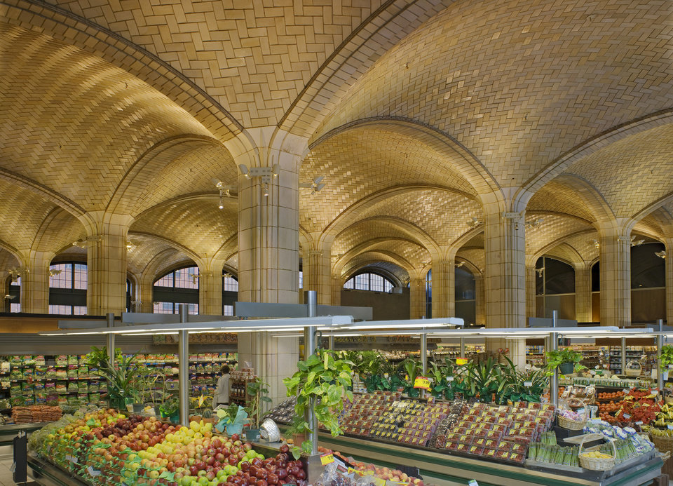 Photo - This undated photo provided, by the Museum of the City of New York, shows a vaulted arcade designed and tiled by the Guastavino company to serve as a public market at New York's Queensboro Bridge.  Rafael Guastavino and his son Rafael Jr., are the subjects of the new exhibition