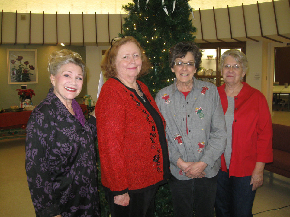 Photo - From left, Oklahoma Judges Council members Diana Treat, Linda Lawson, Carolyn Burkes and Mardi McKenzie. PHOTO BY PAULA BURKES, THE OKLAHOMAN
