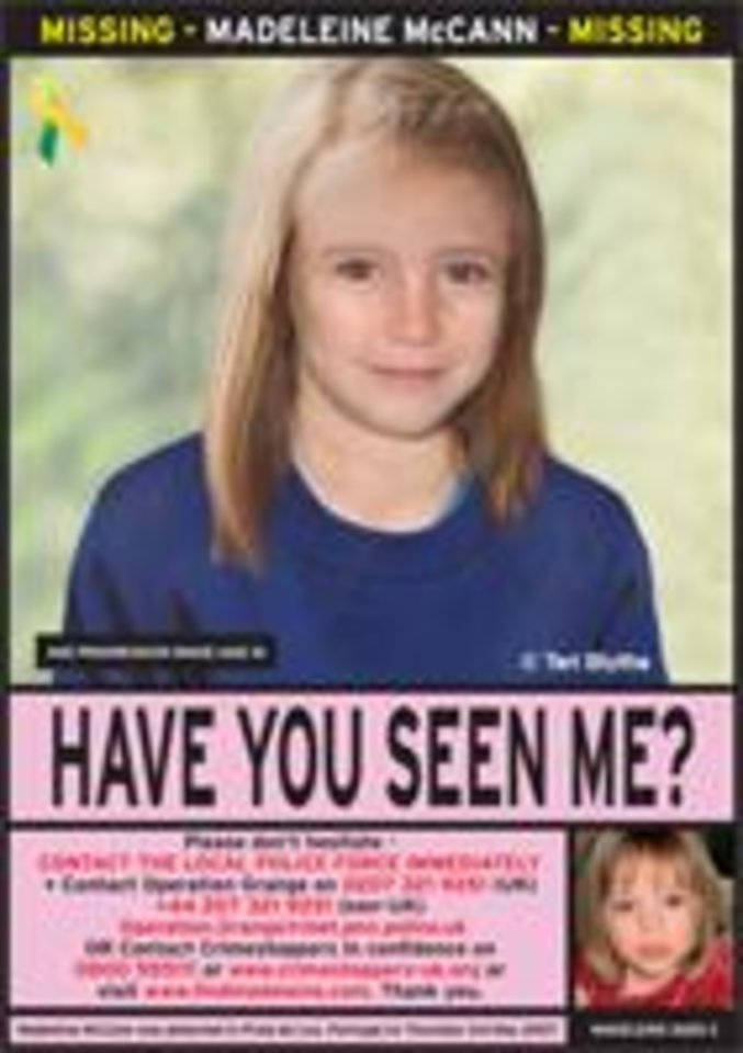 Fwd: Missing child her name is Madeleine McCann she is still missing