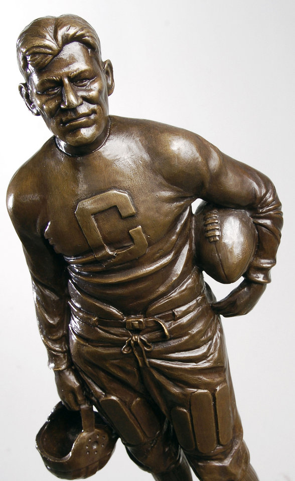 Photo - The Jim Thorpe Award is modeled in the image of the legendary Oklahoma Olympian.  THE OKLAHOMAN ARCHIVE  BILL WAUGH - THE OKLAHOMAN