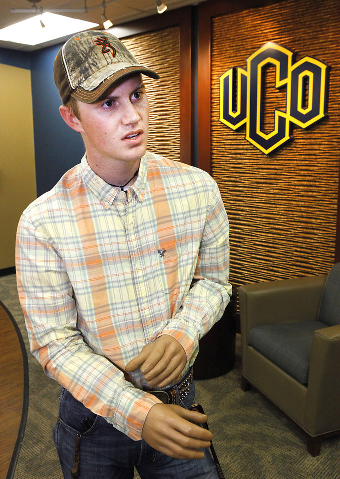 Tyler Bowman will graduate soon from the University of Central Oklahoma. He lost his left arm and part of his right arm in an electrical accident in 2007. Photo By David McDaniel, The Oklahoman <strong>David McDaniel</strong>