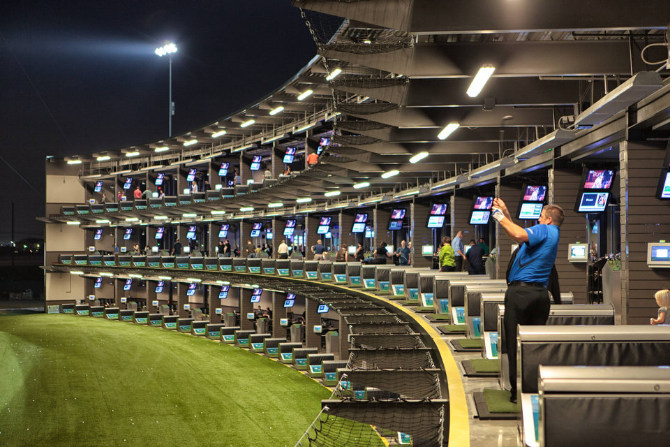 Photo - TopGolf hitting bays at The Colony, Texas.