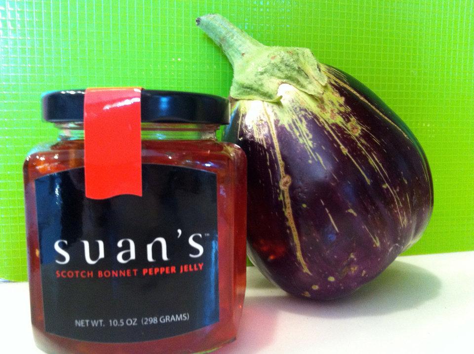 Eggplant can be paired with pepper jelly. PHOTO BY SHERREL JONES, THE OKLAHOMAN <strong></strong>