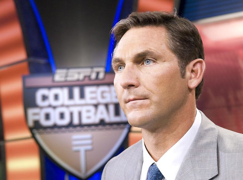 Photo - Craig James has enjoyed getting out of the studio to call Thursday night and Saturday college football games for ESPN. PHOTO BY LORENZO BEVILAQUA, ESPN