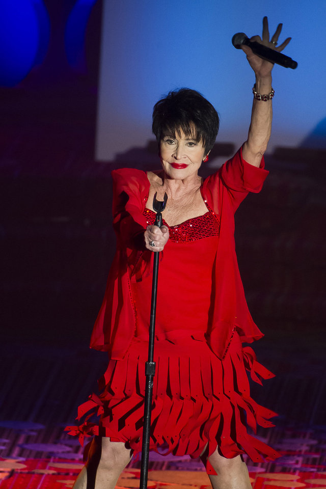 Photo - Chita Rivera performs at the Songwriters Hall of Fame Awards on Thursday, June 12, 2014, in New York. (Photo by Charles Sykes/Invision/AP)