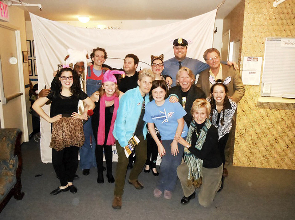 Sophie Schulman, Ariel Leasure, Sara Jane Rose, Rachel Rose, Richard Rosser, Linda Rosser, kneeling; Kristen Geirin, front; Brandon Curry, David Roseberg, Chandler Smith, Eva Marie Mastrangelo, Anthony Police and Jay Shanker, back. PHOTO PROVIDED