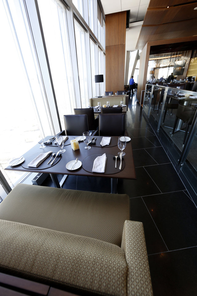 Vast is the new restaurant on the 49th floor of Devon Tower in Oklahoma City. Photo by Steve Gooch, The Oklahoman <strong>Steve Gooch - The Oklahoman</strong>