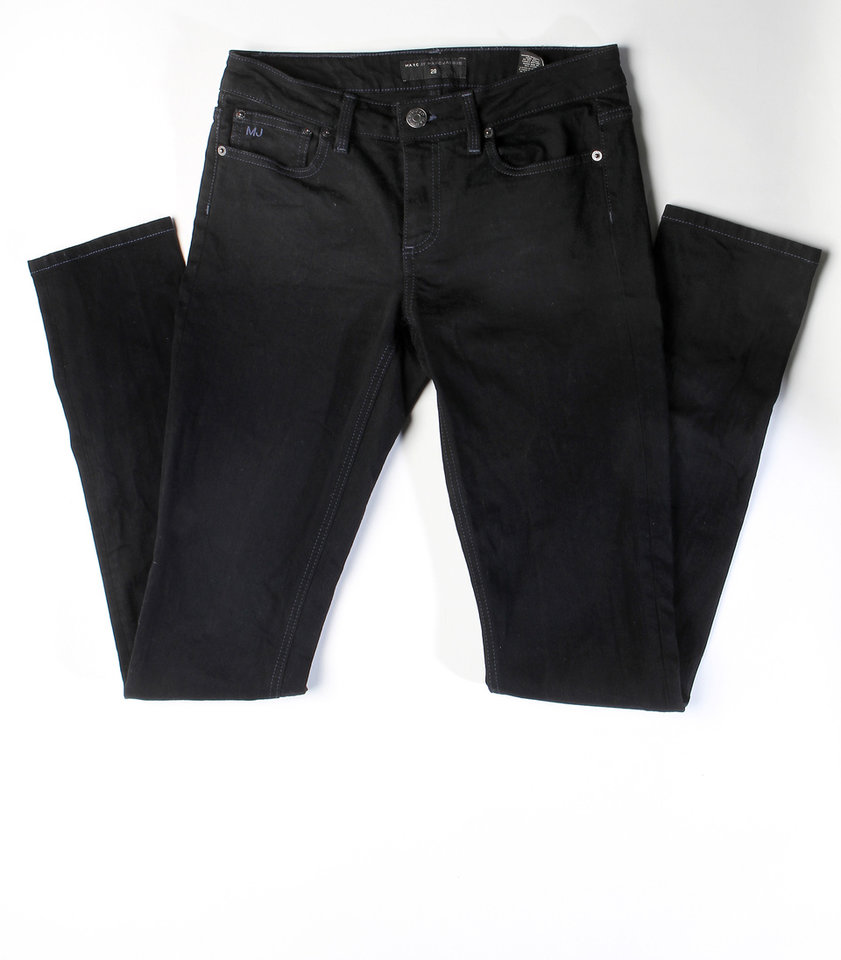 Marc Jacobs skinny jeans, $50, from Wasteland can be part of an eco fashion makeover. (Kirk McKoy/Los Angeles Times/MCT)