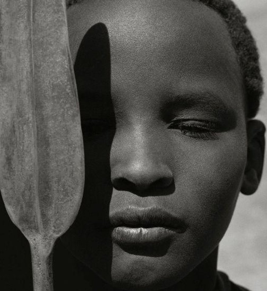 "Herb Ritts\' ""Loriki with Spear, Africa,"" from 1993, is featured in the new exhibit ""Herb Ritts: Beauty and Celebrity"" at the Oklahoma City Museum of Art. Photo provided by the Herb Ritts Foundation."