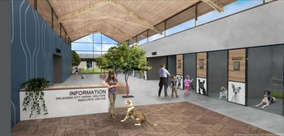 Photo -  A proposed new animal shelter features windows throughout the structure, along with open and cheery spaces for animals, visitors and employees. [RENDERING BY HSEARCHITECTS]