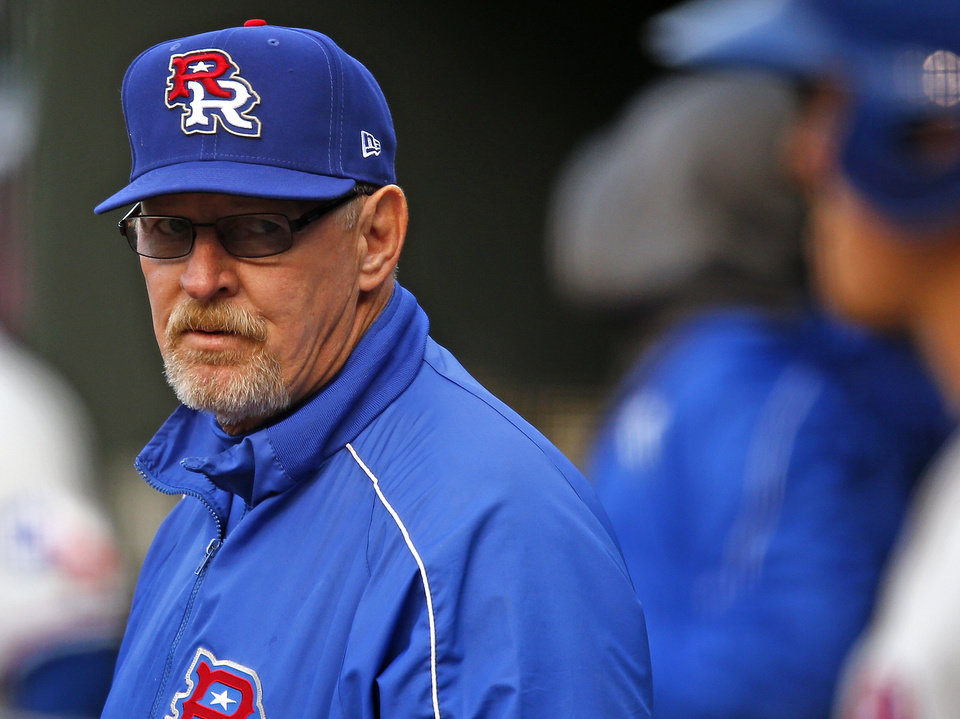 Manager Bobby Jones of the Round Rock Express during a baseball game against the RedHawks at Chickasaw Bricktown Ballpark in Oklahoma City, Tuesday, April 16, 2013. Photo by Bryan Terry, The Oklahoman