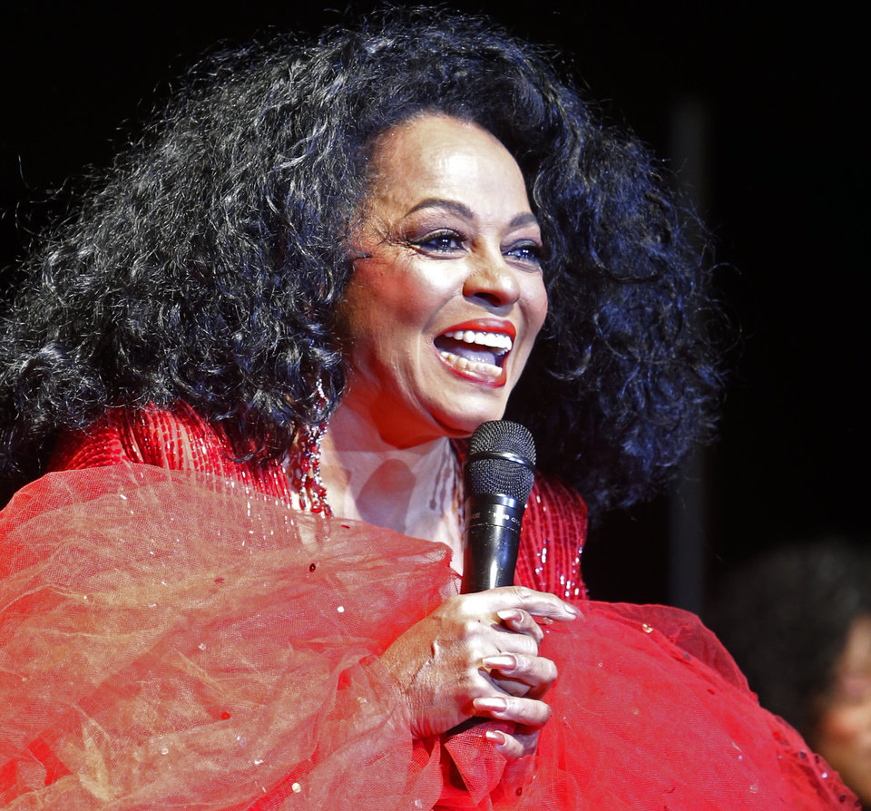 Singer Diana Ross performs during the Oklahoma Speaker's Ball at the Embassy Suites Hotel on Friday, Feb. 1, 2013 in Norman, Okla.  Photo by Steve Sisney, The Oklahoman