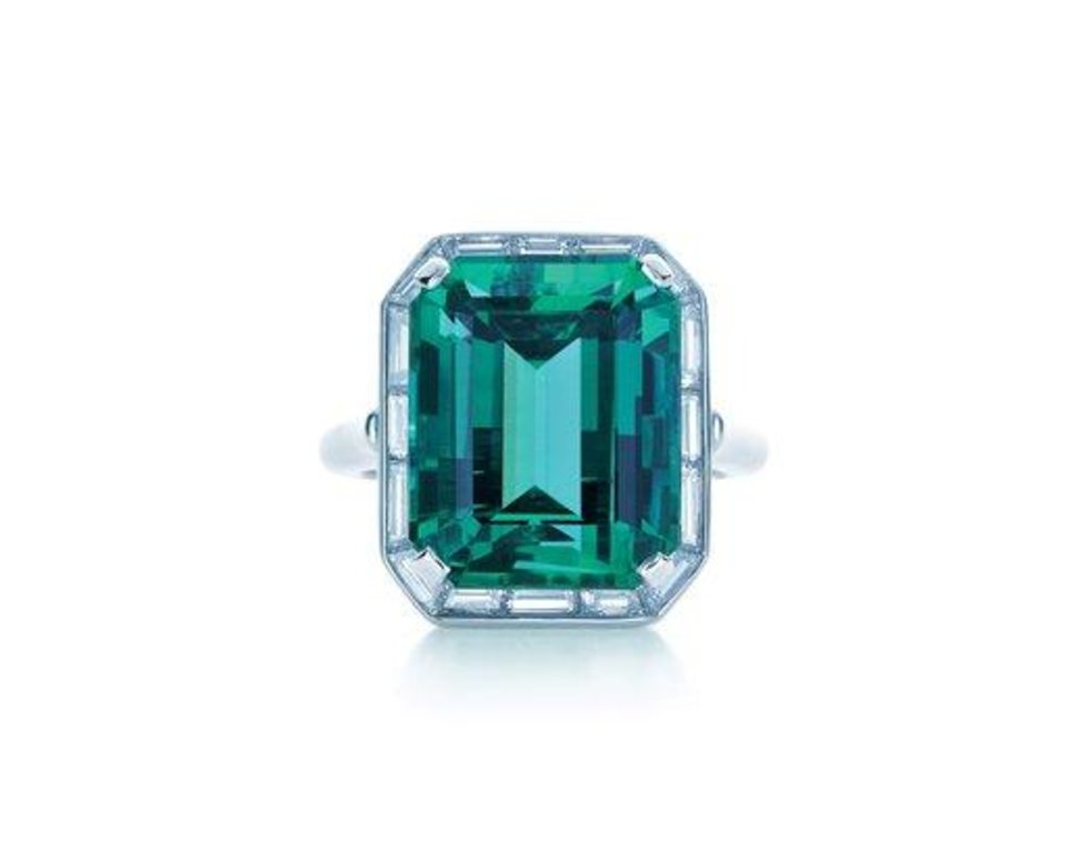 Photo - This product image released by Pantone LLC shows a Tiffany emerald and diamond ring. The rich, vibrant shade of emerald green is Pantone LLC's Color of the Year for 2013, beating out all the other shades of the rainbow. (AP Photo/Pantone LLC)