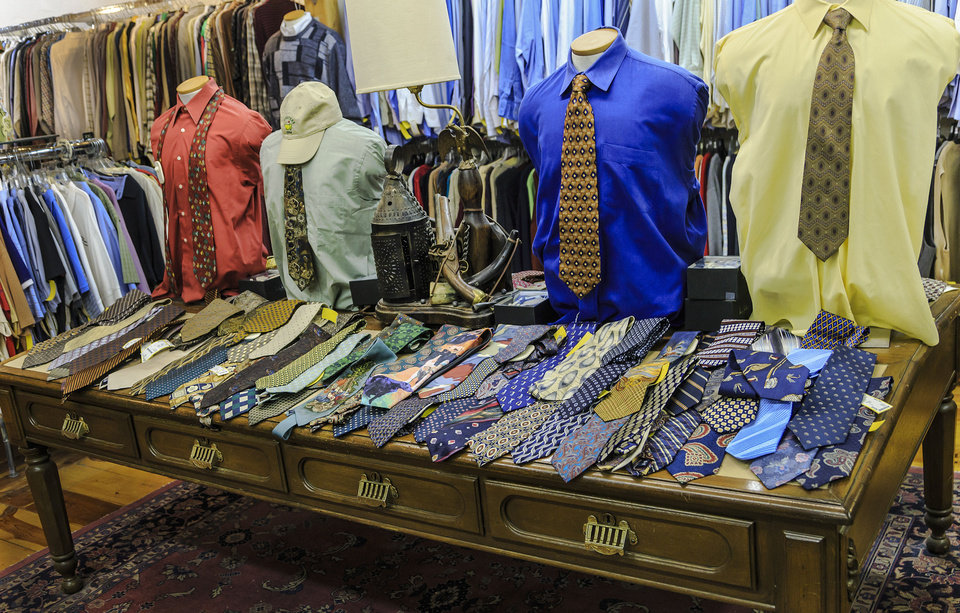 Nearly New in Oklahoma City  has a men's section, which is unusual for local consignment shops. Photo by Chris Landsberger, The Oklahoman. <strong>CHRIS LANDSBERGER</strong>
