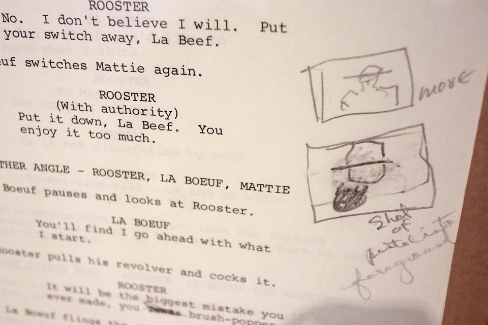Photo - John Wayne's personal script to his 1969 movie