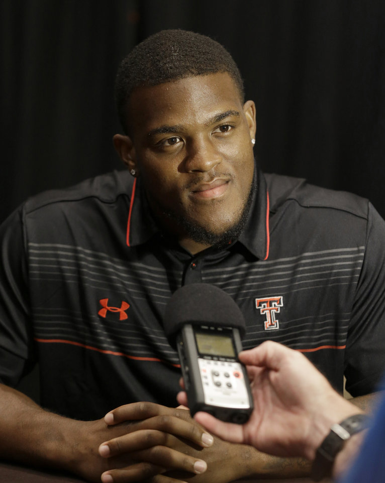 Photo - Texas Tech running back Kenny Williams listens to a reporters's question during the NCAA college Big 12 Conference football media days in Dallas, Monday, July 21, 2014. (AP Photo/LM Otero)