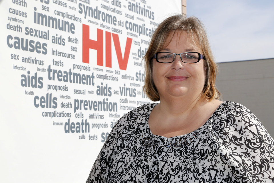 Photo -  Gaila Smalley, who has been intricately involved with HIV services in Oklahoma, is the recipient of the Richard May Award from the Oklahoma AIDS Care Fund.  Photo by Paul Hellstern, The Oklahoman   PAUL HELLSTERN -  Oklahoman