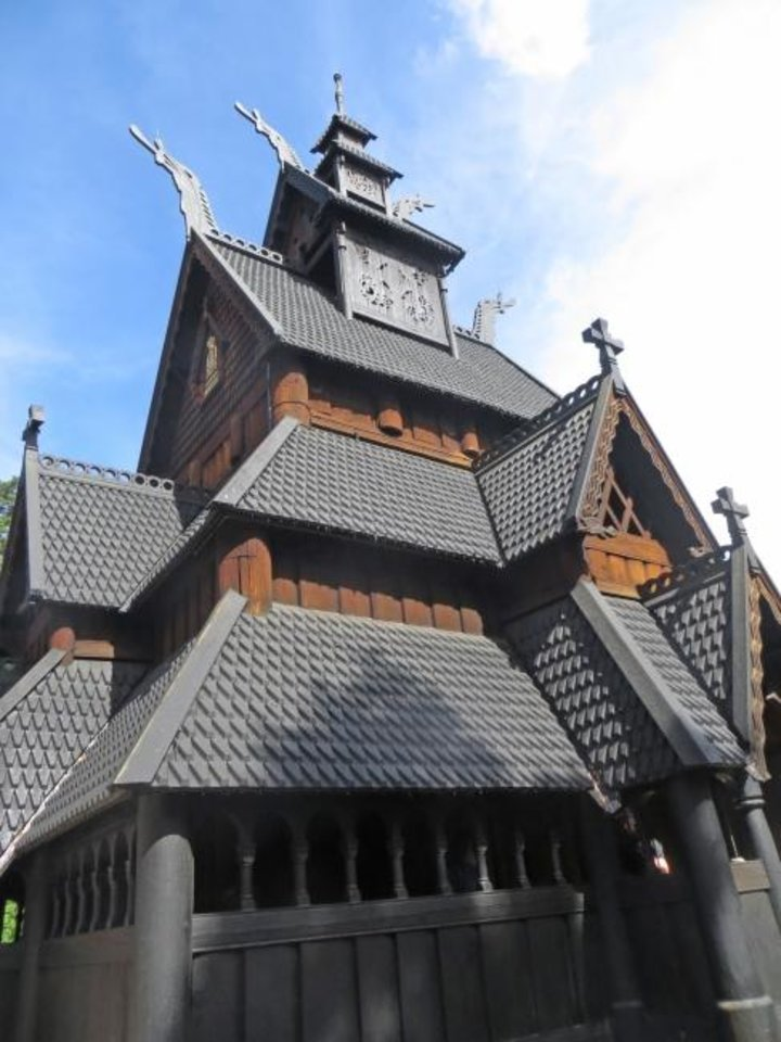 Photo -  The Gol Stave Church, dating back to the 13th century, is one of only 28 remaining stave churches in Norway – out of an original 1000-plus such structures. [Elaine Warner Photo]