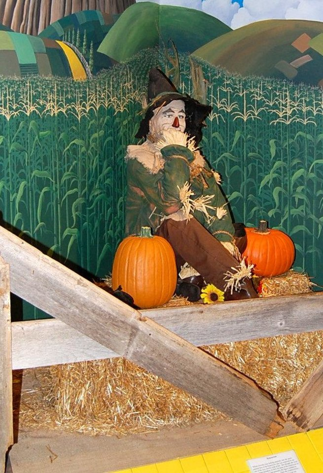 A life-size figure of the Scarecrow from the Oz Museum in Wamego, Kansas. Photo by Annette Price, for The Oklahoman. <strong></strong>