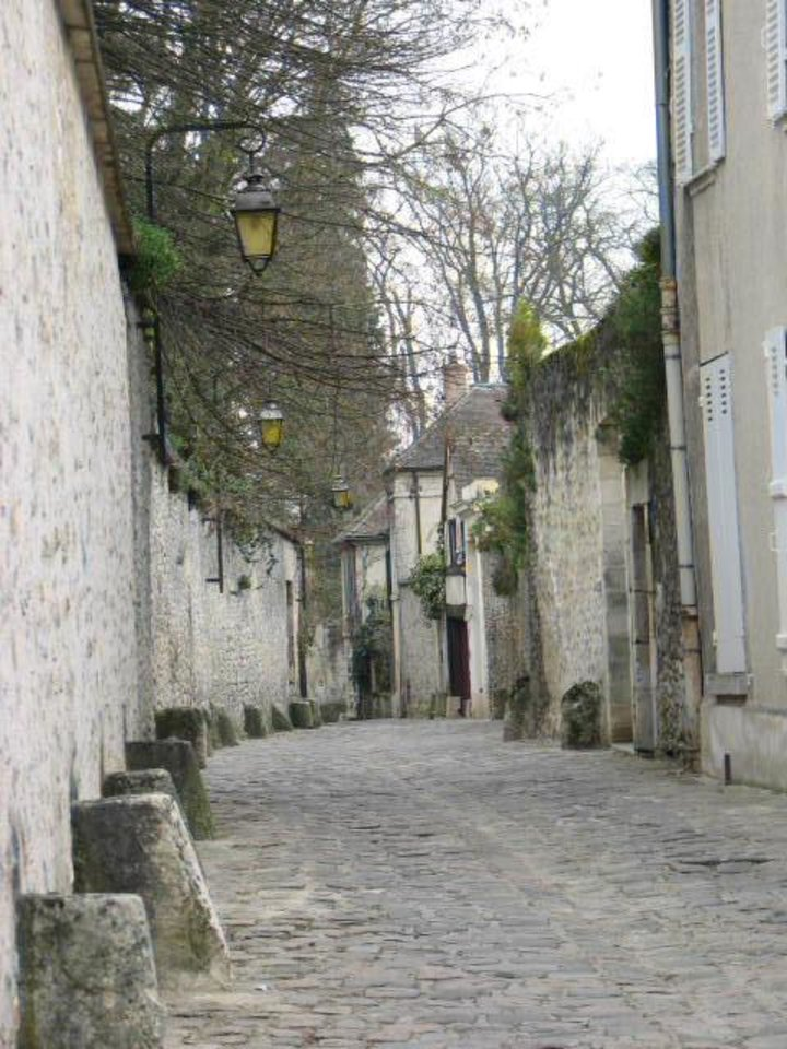 This street in Senlis dates back to the Middle Ages. The stone out-juttings were there to keep the wagon wheels from hitting the wall and to provide a place for pedestrians to get out of the way of the wagons. PHOTO PROVIDED <strong></strong>