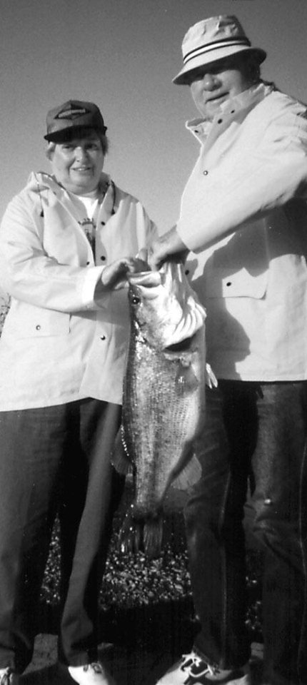 Photo - Henry and Shirley Bellmon share successful Mexican fishing trip.