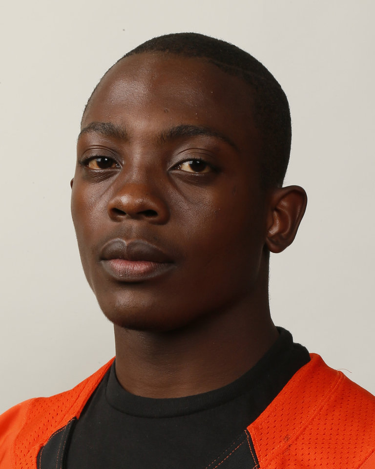 Chavez Wyatt, Douglass football player, poses for a mug shot during The Oklahoman's Fall High School Sports Photo Day in Oklahoma City, Wednesday, Aug. 15, 2012. Photo by Nate Billings, The Oklahoman