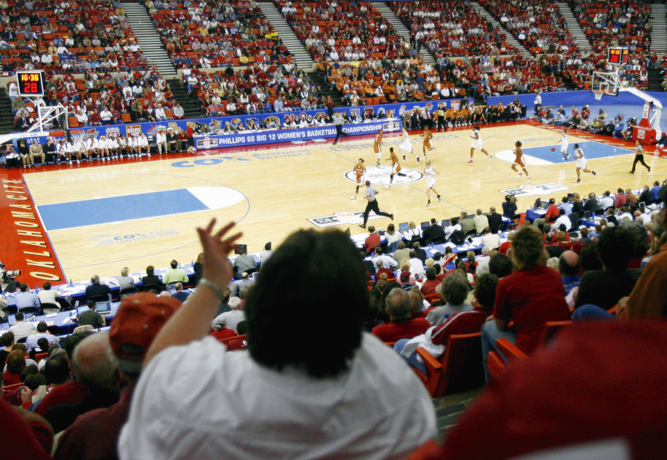 The Big 12 Women's Basketball Tournament drew well in  Oklahoma City in 2007 and 2009. OKLAHOMAN FILE PHOTO