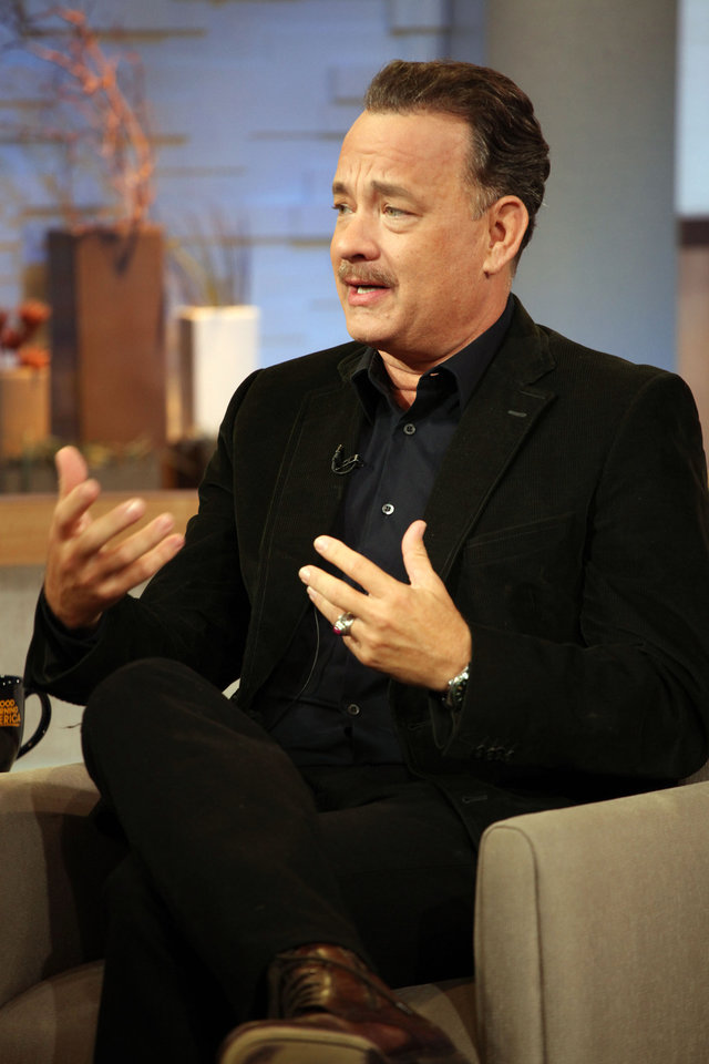 Photo -   This image released by ABC shows actor Tom Hanks during an interview segment on