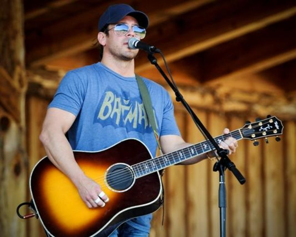Country singer/actor Christian Kane, who grew up in Norman, performs a show last month in Crockettsville, Ky. Kane performed a hometown show Friday night in Norman at Riverwind Casino. (Photo by Debbie Wallace.)