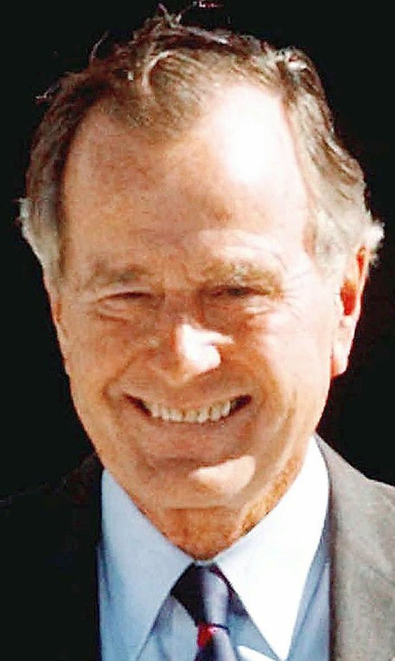 Former President George H.W. Bush is shown in this Nov. 6, 1997, file photo.