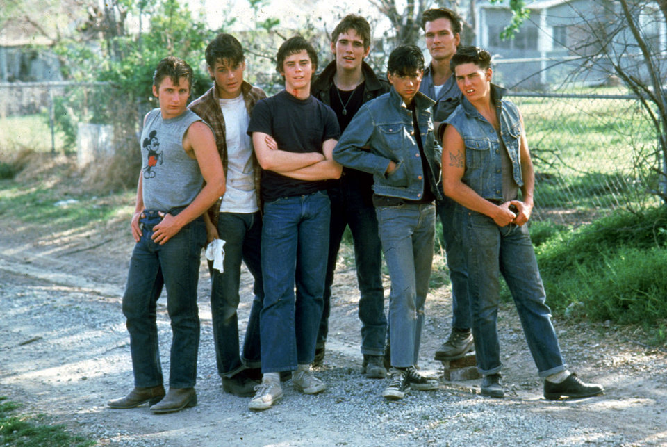 Photo - The cast of The Outsiders. (AP)