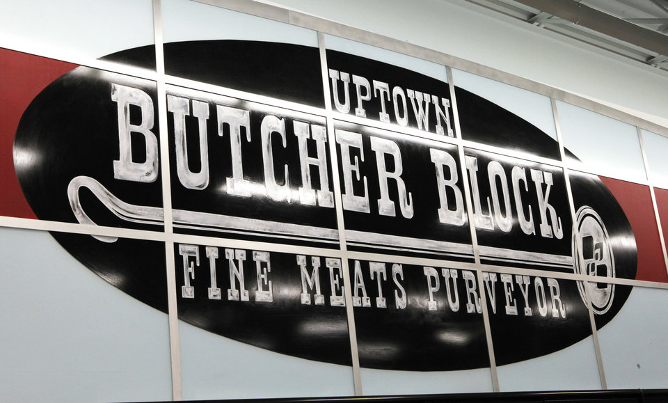 Photo - Butcher Block will be home of fine meats that can only be found at Edmond's Uptown Grocery Co. that is opening at 9 a.m. Wednesday.