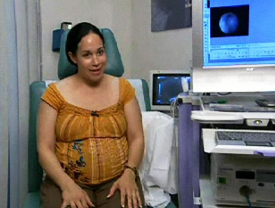 This file image originally made from a 2006 video provided by KTLA shows Nadya Suleman speaking at a fertility clinic in Los Angeles. Suleman, who gave birth on Jan. 26, 2009 to octuplets, has gone from Miracle Mom to becoming a target for Internet scorn and ridicule. (AP Photo/KTLA)