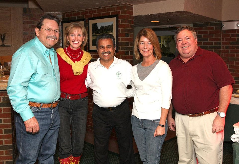 Keith and Leanne Waddell, Nasser Hamidi, Julie and Jeff James.  - Photo by David Faytinger, For the Oklahoman